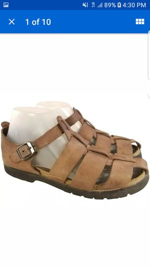 NAOT WOMAN SANDALS THICK LEATHER BROWN SIZE 40/9 for Sale in Las Vegas, NV