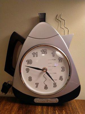 Coffee pot kitchen clock for Sale in Fayetteville, GA