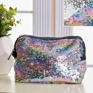 Reversible Unicorn silver Sequin Cosmetic Bag for Sale in GRANT VLKRIA, FL
