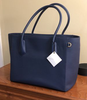 DAGNE DOVER NEW SIGNATURE LEGEND TOTE LAPTOP BAG MIDNIGHT BLUE NWT for Sale in Mooresville, IN