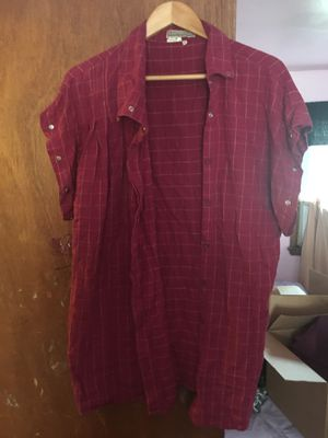 Maroon plaid shirt for Sale in Hyattsville, MD