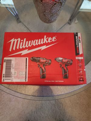 Milwaukee impact driver drill set for Sale in Apple Valley, CA