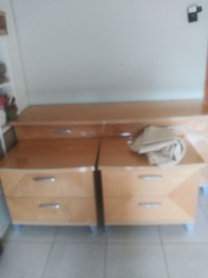 Italian dresser mirror and nightstand for Sale in Kissimmee, FL