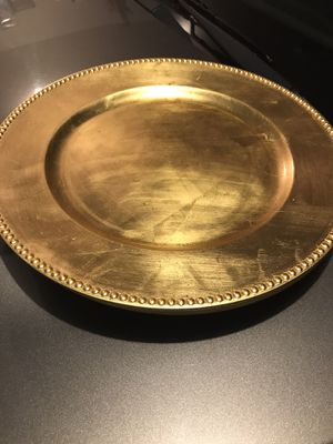 Set of 4 gold plate chargers for Sale in Goose Creek, SC