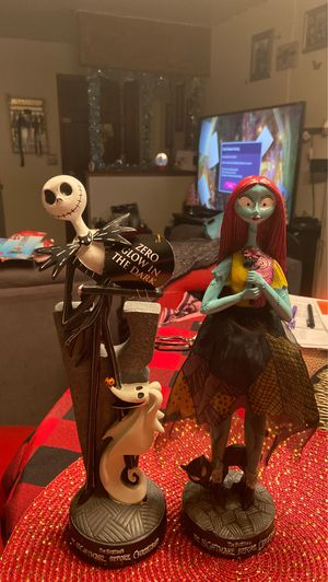 Nightmare before Christmas Jack & Sally figurines for Sale in Morgan Hill, CA