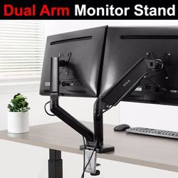 """New in box $35 VIVO (V002O) Fully Adjustable Dual Monitor Stand, Desk Mount, Screens up to 27"""" for Sale in Whittier,  CA"""