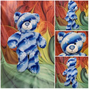 Build A Bear Blue Snowflake Winter Hugs Flurry Teddy Stuffed BABW Plush Retired for Sale in Hallettsville, TX