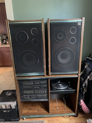 Pilot Stereo System Record/Tape Player, Cabinet, and Speakers for Sale in Denver, CO