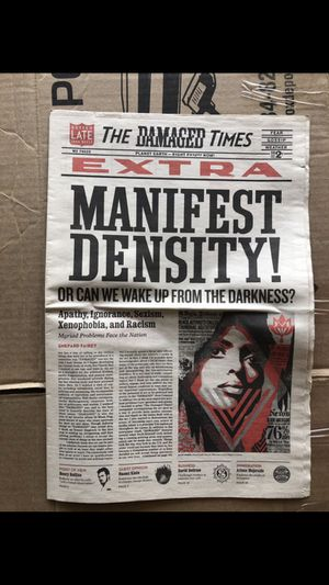 Obey the Damaged times newspaper for Sale in Fullerton, CA