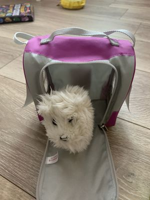American girl doll dog and carrier for Sale in Coral Springs, FL