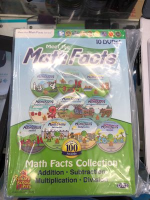 Meet the math facts 10 dvd set opened box for Sale in Corning, OH