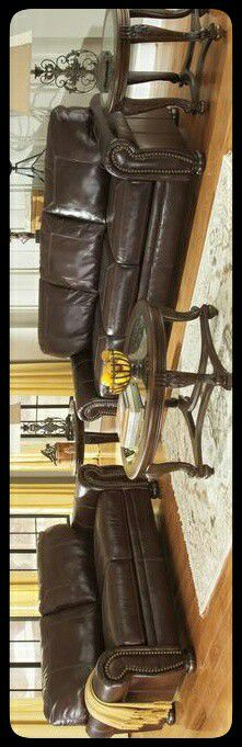 ✔Ashley✔ Banner Coffee Leather Living Room Set for Sale in Mount Rainier, MD