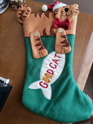 Good Kitty Christmas Stocking Full Size for Sale in Oakley, MI