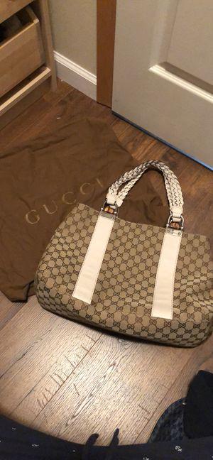 Gucci beige canvas tote bag for Sale in Seattle, WA