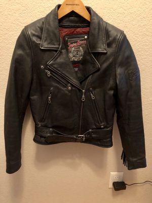 Leather fringe motorcycle jacket for Sale in Bella Vista, AR
