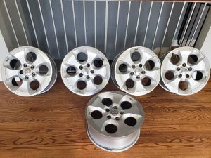 "Jeep Wrangler Sahara 18"" wheels OEM for Sale in Clifton, VA"