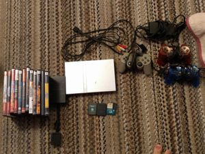PlayStation 2 Silver (USED) for Sale in Lancaster, CA