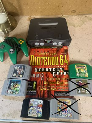 Nintendo 64 games , n64 games and strategy guide ! for Sale in Kennewick, WA