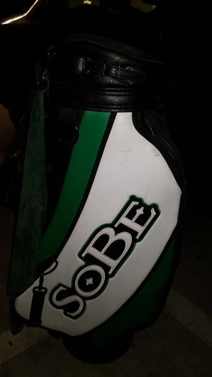 leather sobe promotional golf club bag for Sale in Seattle, WA