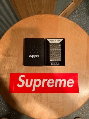 NEW Supreme Diamond Plate Zippo for Sale in South Lyon, MI