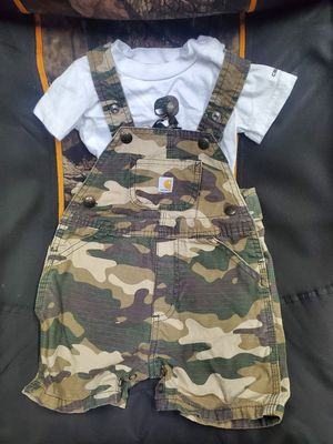 9 months Carrhart short overalls for Sale in Waterford, PA