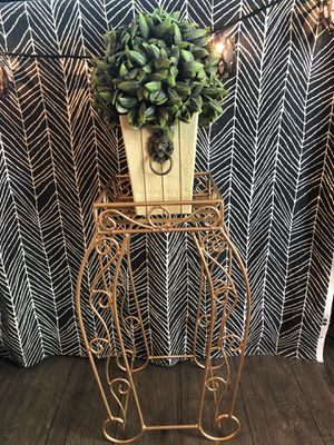 Gold Metal Plant Stand for Sale in Phoenix, AZ