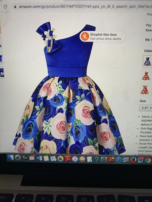 Blue Flower girl dress 2-3T for Sale in Bensenville, IL