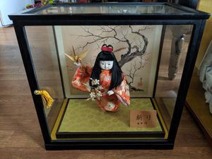 Authentic Japanese Hina Doll with Display Case for Sale in Pensacola, FL
