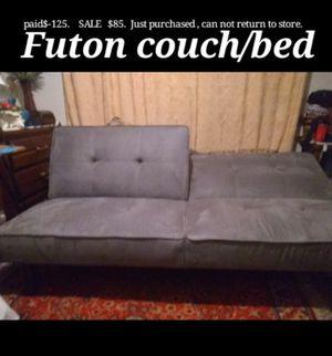Microfiber Futon sofa bed for Sale in Stockton, CA