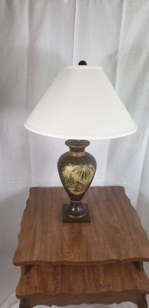 Handpainted vintage authentic lamp Tommy bahama style monkey for Sale in Orlando, FL