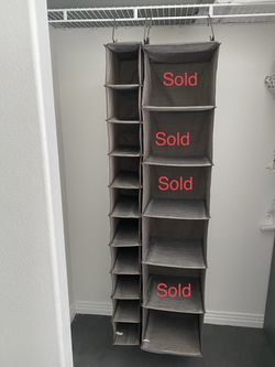 12 Shelf Hanging Closet Organizer -Gray Birch -Threshold™ for Sale in Henderson,  NV