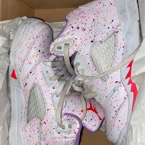 Jordan 5 Retro Se preschool Size 12c White/laser Crimson for Sale in Trenton, NJ