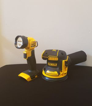 NEW Brushless Orbital Sander and Work Flash Light ONLY TOOL NO CHARGER OR BATTERIES FIRM PRICE for Sale in Woodbridge, VA