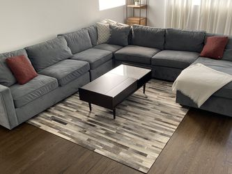Room and Board York Micro-Velvet Sectional Sofa With Sleeper Bed for Sale in San Francisco,  CA