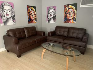Modern leather couches for Sale in Chino Hills, CA