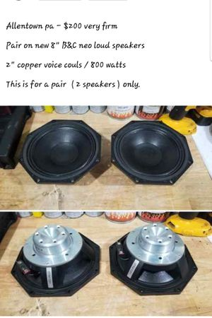 """2 new B&C speakers 8"""" for Sale in Allentown, PA"""