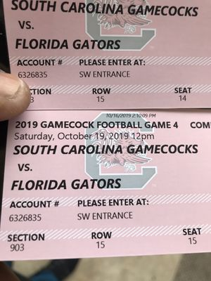 Florida/USC tickets for Sale in Columbia, SC