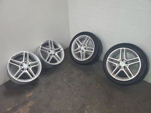 """2008 - 2014 MERCEDES C300 2008 - 2015 MERCEDES C350 2012 - 2015 MERCEDES C250 front and rear AMG 17"""" FACTORY OEM WHEEL for Sale in Miami Lakes, FL"""
