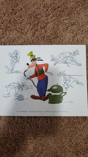 Epcot's 2016 International Flower and Garden Festival Goofy Print for Sale in Cocoa, FL