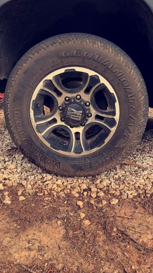 8 lug rims and tires for Sale in Myrtle, MS