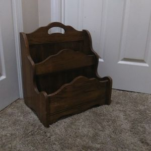 Wooden magazine holder for Sale in Indianapolis, IN