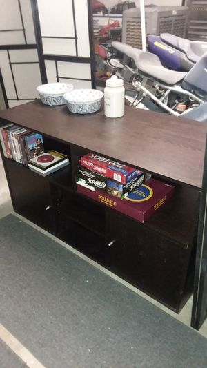 Dark brown tv stand television console for Sale in Chandler, AZ
