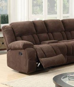 Brown reclining sectional sofa for Sale in Houston,  TX