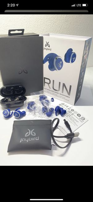 Jaybird - RUN True Wireless In-Ear Headphones - Blue Steel Special Edition for Sale in Irvine, CA