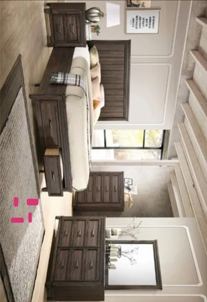 Presley Brown Storage Platform Bedroom Set | B3150 Queen and King size bed frame Dresser Mirror Nightstand for Sale in Houston, TX