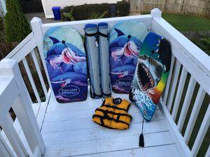 Boogie boards beach mats and preserver for Sale in Villa Rica, GA