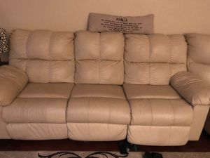 Ashley's furniture tan/white sectional electric recliners for Sale in Schertz, TX