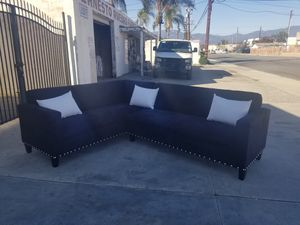 NEW 7X9FT BLACK MICROFIBER SECTIONAL COUCHES for Sale in San Diego, CA