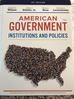 American Goverment textbook for Sale in Weslaco, TX