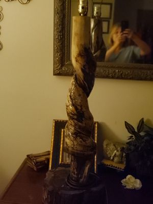 Hand crafted Cedar wood lamps for Sale in Grenada, MS